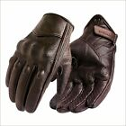 Mens Leather Motorcycle Gloves Motorbike Riding Touch Screem Thermal Lining