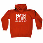 Funny Kids Childrens Hoodie Hoody - Math Club Its Hip To Be