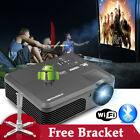 7000:1 LED Android 6.0 Bluetooth Video Projector Home Theater HD 1080p Kodi HDMI