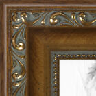 """ArtToFrames Picture Frame Custom 1.4"""" Gold with Beads Wood 4553 Small"""