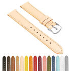 StrapsCo Women's Classic Smooth Leather Watch Band - Quick Release Strap image