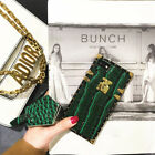 For iPhone X 8 6s 7 Fashion Girl Cover Luxury Crocodile Leather Protective Case