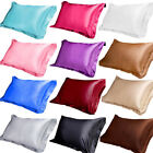Silk Pillowcase Pure Silk Blend Soft Pillowcase Standard Pillow Case 48*74cm image