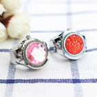 Fashion Women Jewelry Round Finger Ring Watch Stone Steel Elastic Lady