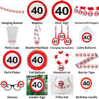 40TH BIRTHDAY TRAFFIC SIGNS THEME - COMPLETE PARTYWARE COLLECTION