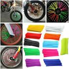 72PCS lot Motorcycle Dirt Bike Spoke Skins Covers Wraps Wheel Rim Guard Protecto