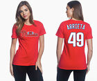 Jake Arrieta Philadelphia Phillies #49 MLB Jersey Style Women's Graphic T Shirt on Ebay