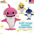Baby Shark Singing Plush Toy Music Song Doll English Creative Kids Gift