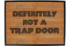 Funny Doormat Novelty Door Mat Birthday Home Office - definitely not a trap doo