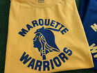MARQUETTE WARRIORS TSHIRT - MU BASKETBALL - GOLDEN EAGLES SHIRT <br/> CHOOSE SHIRT COLOR GOLD, NAVY, GREY or WHITE
