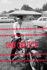1956 ELVIS PRESLEY in MEMPHIS Sitting on HARLEY KH in FRONT YARD Audubon Dr 05