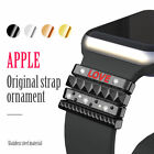 For Apple Watch Has Silicone Band Stainless Steel Trim Ring 38mm/40mm 42mm/44mm image
