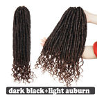 Dark Black Goddess Faux Locs Hair Extensions Crochet Braids Straight Curly JH23