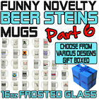 Funny Beer Stein Frosted Glass Novelty Pint 16oz Birthday Gift - SUPER BG6