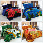 3 Piece Heavy Thick Winter Warm Soft Sherpa Blanket For Queen/King Bed image