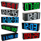 110-220V LED Digital Large Big Jumbo Snooze Wall Table Desk Calendar Alarm Clock
