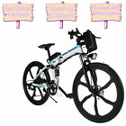 26inch 21 Speed Foldable Electric Power Mountain Bicycle Lithium-Ion Out Sport