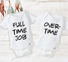 Funny Twin Matching Outfits Baby Unisex Twins Onesies Newborn Infant Baby Gifts