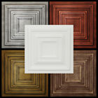 Tin Look Glue Up Ceiling Tiles Made of Styrofoam 20x20 R33 lot of 6 Diff Colors