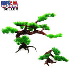 Внешний вид - Fish Tank Aquarium Rock Bonsai Ornament Artificial Pine Tree Plant Wrthy USA