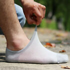 5 Pairs Mens Bamboo Invisible No Show Nonslip Solid Loafer Boat Socks Low Cut