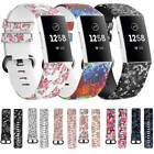 Fitbit Charge 3 Replacement Sports Band Floral Strap Silicone Wrist Watch Bands image