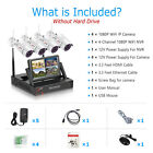 """4CH Wireless Security Camera System 1080P Outdoor 1TB HDD 7""""LCD-Monitor HDMI NVR"""