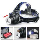 20000 LM X-XML T6 USB Rechargeable Headlam LED Headlight Zoom Flashlight Torch @