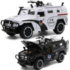1/32 Scale Military Armoured Police Car Alloy Diecast Model with Sound