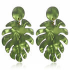 Leaf Dangle Drop Earring Tropical Plant Summer Beach Bohemian Style Jewelry shan