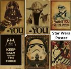 Vintage Star Wars Wall Picture Vinyl Mural Removable Decals DIY Home Decor