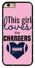 Chic Girl Love San Diego Chargers Pink Hard Phone Case For iPhone / Samsung / LG $7.43 USD on eBay