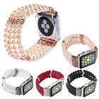 US 44/40/42/38mm Ladies Pearl Stretch Band Apple Watch 5 4 3 2 1 Strap Bracelet image