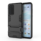 Slim TOUGH SHOCK PROOF Bumper Armour Case Cover KICK STAND For All Huawei Phones