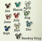Buy 3, Get 2(ADD 5) Small MICKEY BIRTHSTONE Floating Charms for Floating Locket