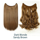 """20 24""""Straight Curly Wire Halos Hair Extensions Secret Line Hairpeices Ombre I6"""