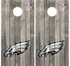 Philadelphia Eagles Pair Of Wood Cornhole Board Vinyl Decal Wraps $44.89 USD on eBay