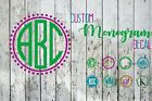 Monogram Vinyl Decal W/ Frame For Your Cup, Tumbler, Car, Etc.  1-3-initial