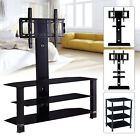 32'-70' 2/3/4 Shelves Tempered Glass Adjustable TV Stand Entertainment Center