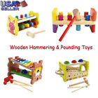 Kid Wooden Hammering&Pounding Toys+8 Notes Xylophone+Shape Color Recognition Toy