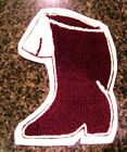 Maroon Chenille w/ White Felt Letterman Jacket Patches Crafts Sports