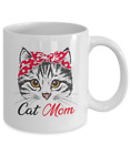 Funny Cat Mom Coffee Mug For Cat Lover Cup Mother's Day Gift Cute Girls Women