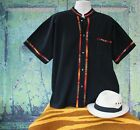 Latin American Men's Guayabera Shirt Jet Black Mandarin Collar made in Mexico