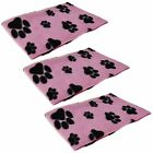 Value Pack of 3 Pet Dog Cat Puppy Fleece Blankets Soft Cosy