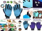Pet Grooming Massage Glove Deshedding Tool Brush Fur Remover Mitt for Dog Cat UK
