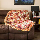 New Comfort Food Creations Pizza Wrap Blanket Perfectly Round Hamburger Throw image