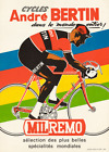 Cycles Andre Bertin Vintage Bicycle Poster Print Art Advertisement Cycling