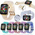 Sport Women Band Straps For Apple Watch Series 4 3 2 1 Bling Silicone Glitter  image