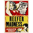 Reefer Madness Vintage Movie Advertising Art Print Framed Poster 12X16 Inch