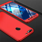 360° Case For Huawei Y5 Y6 Y7 Pro Y9 2018 / 2019 Full Cover + Tempered Glass